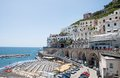 Atrani amalfi coast italy panoramic view of in the Royalty Free Stock Photography