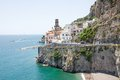 Atrani amalfi coast italy panoramic view of in the Stock Images