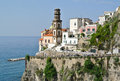 Atrani view of in amalfi coast italy Royalty Free Stock Photography