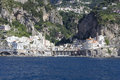 Atrani village on the Amalfi Coast Royalty Free Stock Photo