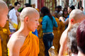 Atriculation Ceremony of Buddhist monk Royalty Free Stock Images