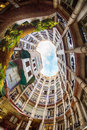 Atrium in Casa Mila, Barcelona, Spain Royalty Free Stock Photo