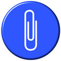 Attach Button Royalty Free Stock Photo