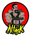 Attack war icon creative design of Stock Image