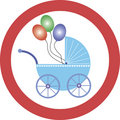 Attention! Baby buggies Royalty Free Stock Images