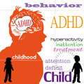 Attention deficit hyperactivity disorder Royalty Free Stock Photo