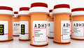 Attention disorder medicines and pills Stock Photography