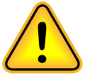 Attention exclamation sign Royalty Free Stock Photo