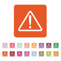 The attention icon. Danger symbol. Flat Royalty Free Stock Photo