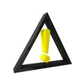 Attention icon displays exclamation point precaution Royalty Free Stock Images