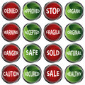 Attention Icons Royalty Free Stock Photos