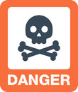 Attention icons danger button and warning signs. Royalty Free Stock Photo