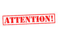 ATTENTION! Royalty Free Stock Photo