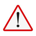 Attention sign. Exclamation point on a white background. Vector illustration Royalty Free Stock Photo