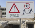 Attention to the danger of falling