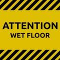 Attention wet floor sign