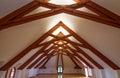 Attic roof beams Royalty Free Stock Photo