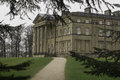 Attingham park house Atcham Shropshire through the trees Royalty Free Stock Photo