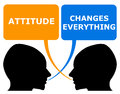 Attitude changes everything both in a positive and negative way Royalty Free Stock Photos