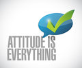 attitude is everything approval message sign Royalty Free Stock Photo