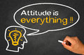 Attitude is everything concept on chalkboard Stock Image