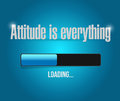 attitude is everything loading bar sign concept