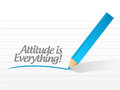Attitude is everything message written on a piece of paper Royalty Free Stock Photography
