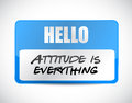 attitude is everything name tag sign concept Royalty Free Stock Photo