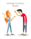 Attitude of People. Quarrel. Choleric Temperament