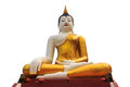 Attitudes of buddha images giant statue attitude subduing mara isolated in temple Stock Images
