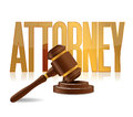 Attorney at law sign illustration design over a white background Royalty Free Stock Photos