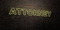 ATTORNEY -Realistic Neon Sign on Brick Wall background - 3D rendered royalty free stock image Royalty Free Stock Photo