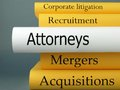 Attorneys law practice books a horizontal stack of related book titles Royalty Free Stock Photo