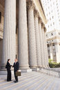 Attorneys Shaking Hands On Courthouse Steps Royalty Free Stock Photo
