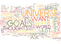Attract The Universe And Achieve Your Goals Word Cloud Concept Royalty Free Stock Photo