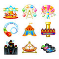 Attraction icons Royalty Free Stock Photo