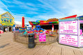 Attractions various at the central pier in blackpool england uk Royalty Free Stock Images