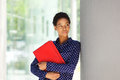 Attractive african american business woman standing outside Royalty Free Stock Photo