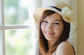 Attractive asian woman relaxing Royalty Free Stock Photography