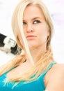 Attractive beautiful blondy woman posing Royalty Free Stock Photo
