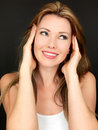 Attractive Beautiful Sensual Young Woman Smiling Happily Royalty Free Stock Photo