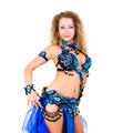 Attractive belly dancer Royalty Free Stock Image