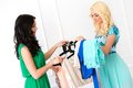 Attractive best friends during shopping friendship lovely Royalty Free Stock Photography