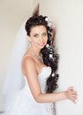 Attractive bride posing indoor Royalty Free Stock Photography