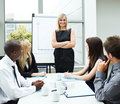 Attractive businesswoman in a meeting Royalty Free Stock Photo