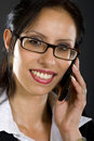 Attractive businesswoman on the phone Stock Photo