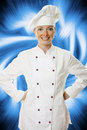 Attractive cook woman Royalty Free Stock Photos