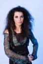 Attractive curly woman young Στοκ φωτογραφία με δικαίωμα ελεύθερης χρήσης