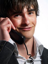Attractive customer service operator Stock Images