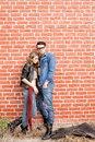 Attractive fashionable couple dressed casual Stock Photo
